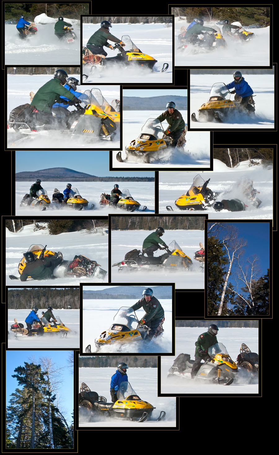 The Bear Crew on Snowmobiles - Fifth Machias Lake
