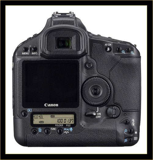 Canon EOS 1Ds Mark III Rear View