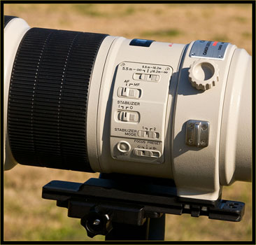 600mm lens control area