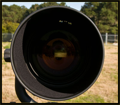 Front vew of the 600mm lens