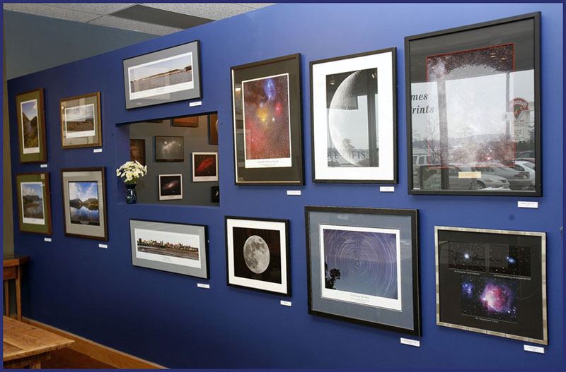 The primary gallery wall