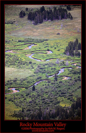 Winding Stream in the Valley