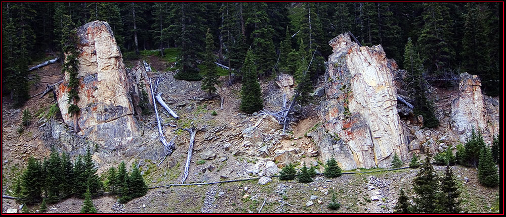 Rocky Mountain Ledge Face