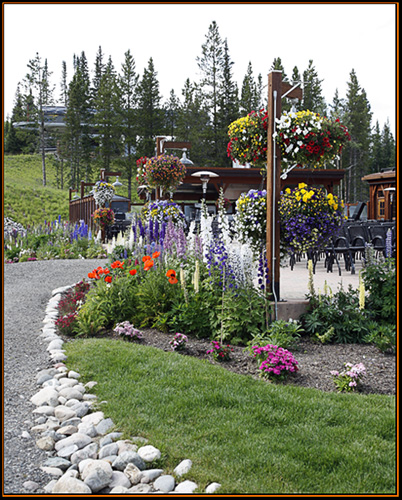Flowers at Side Elevation of Ten Mile Station