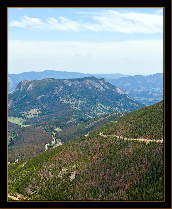 View From the Overlook - Rocky Mountain National Park