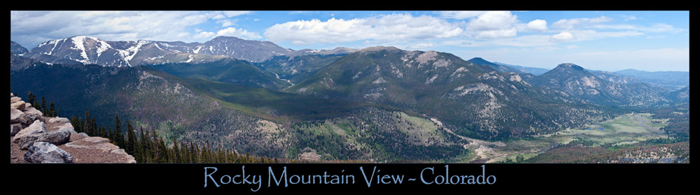 Panoramic - Rocky Mountain National Park