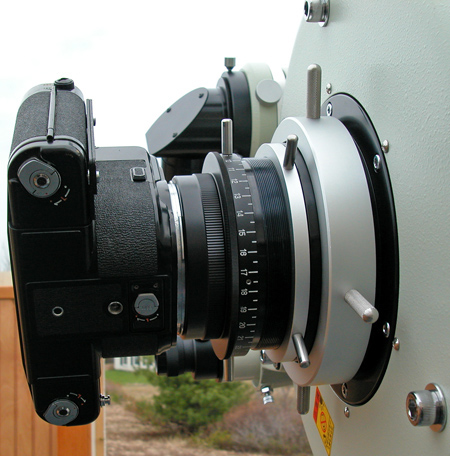 Pentax 6X7 camera mounted