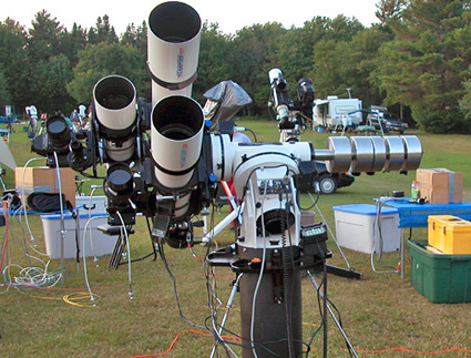 three telescope system