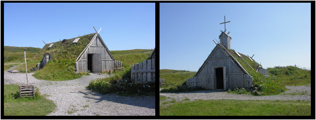 Replica Norse Sod Workhouse & Chapel at L'Anse aux Meadows