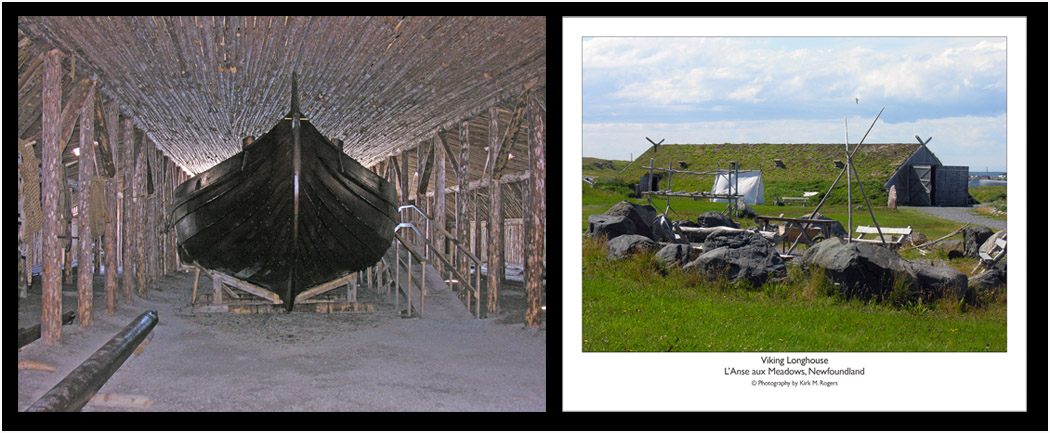 Maine Built Replica Viking Vessel & Longhouse at L'Anse aux Meadows