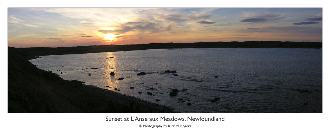 Sunset at Hay Cove, L'Anse aux Meadows