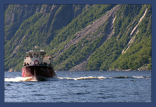 Tour Boat on Western Brook Pond