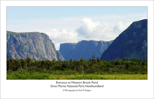 Entrance to Western Brook Pond