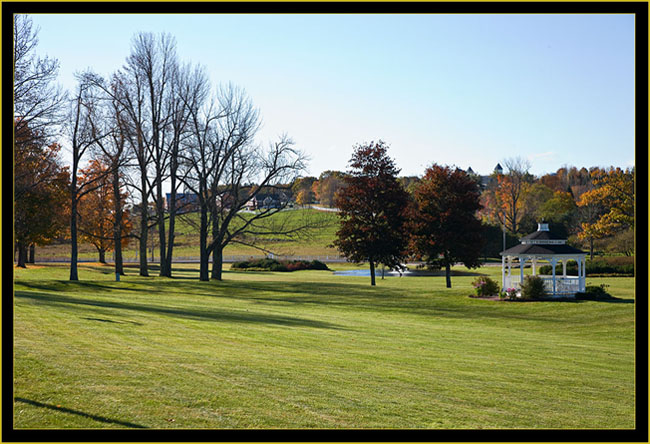 The Grounds Looking Towards the Stables - Pineland Center - New Gloucester, Maine