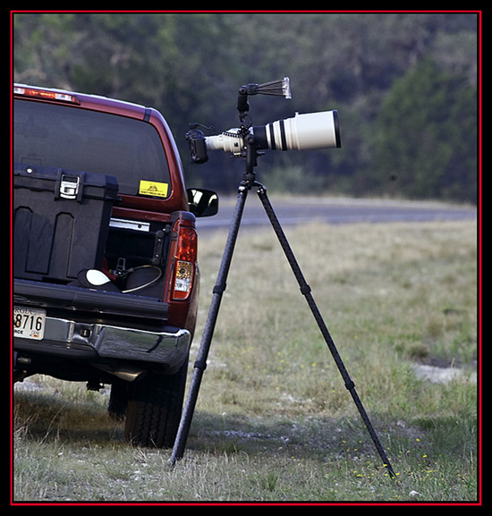 Camera System on the Roadside - Outside of Guadalupe River State Park