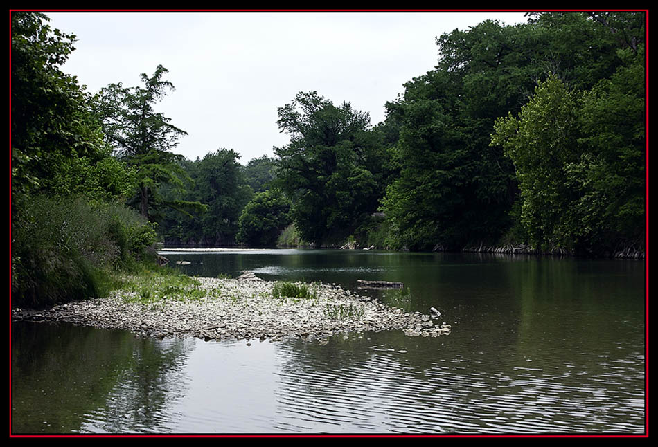 View of the Guadalupe River, Spring Branch, Texas