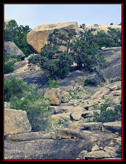 Terrain View - Enchanted Rock State Natural Area - Fredericksburg, Texas