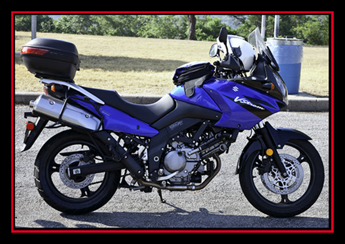 Rented Suzuki DL 650 VStrom