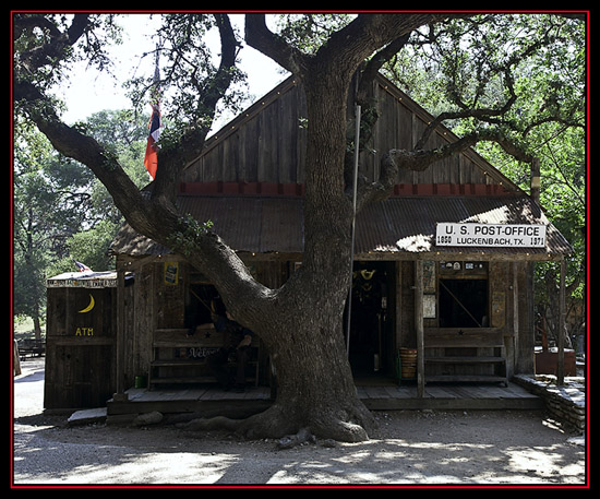 View in Luckenbach, Texas