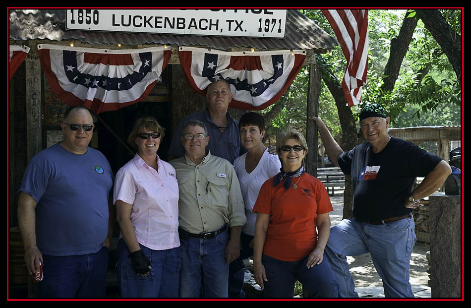 Our Group in Luckenbach, Texas
