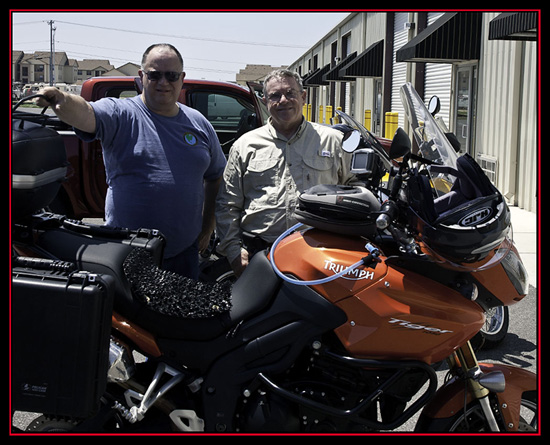 Dave and Steve at Texas Motorcycle Adventures, New Braunfels, Texas