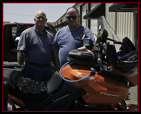 Kiro and Dave at Texas Motorcycle Adventures - New Braunfels, Texas