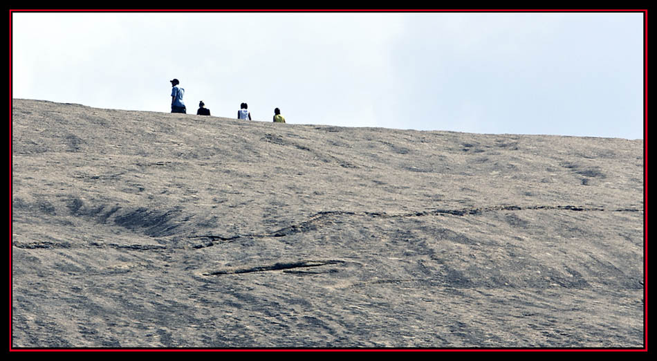 Hikers on the Rock - Enchanted Rock State Natural Area Views