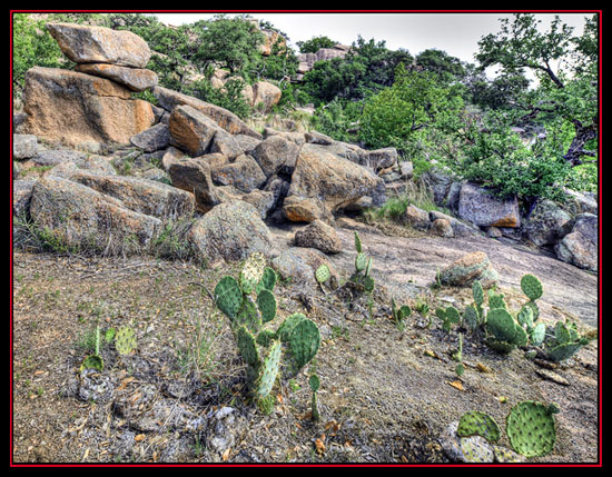 HDR View - Enchanted Rock State Natural Area - Fredericksburg, Texas