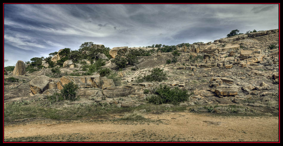 HDR View at Enchanted Rock State Natural Area - Fredericksburg, Texas