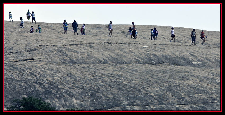Hikers on the Rock - Enchanted Rock State Natural Area - Fredericksburg, Texas