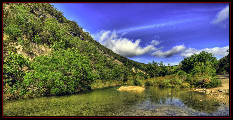 Sabinal River View in HDR - Lost Maples State Natural Area - Vanderpool, Texas