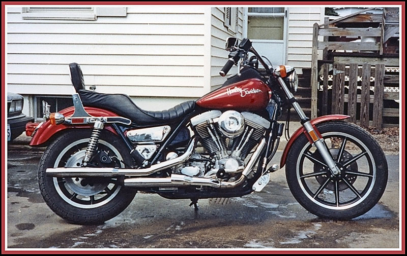 1986 Superglide in Stock Paint