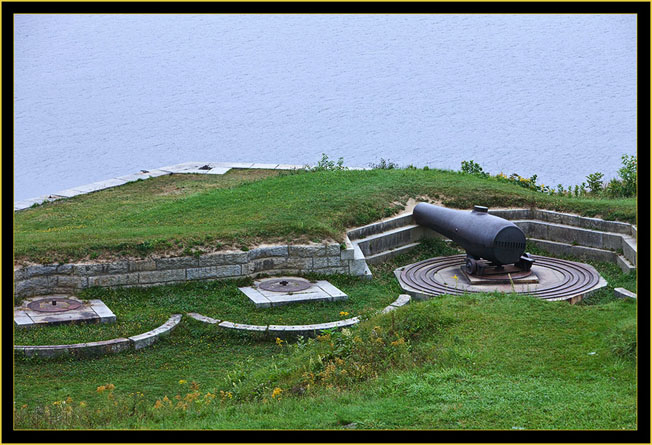 Overview of Battery B Weapon Emplacements