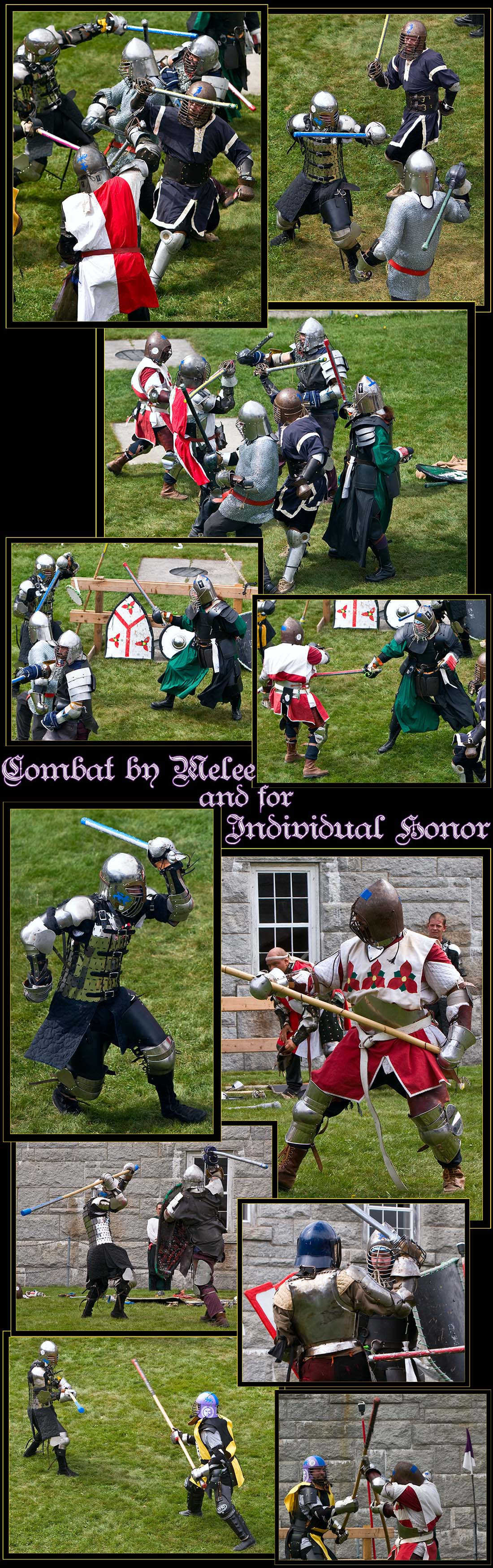 Views of the Pas d'Armes Tournament of Knightly Combat