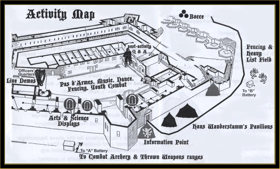 Medieval Tournament Activities Map