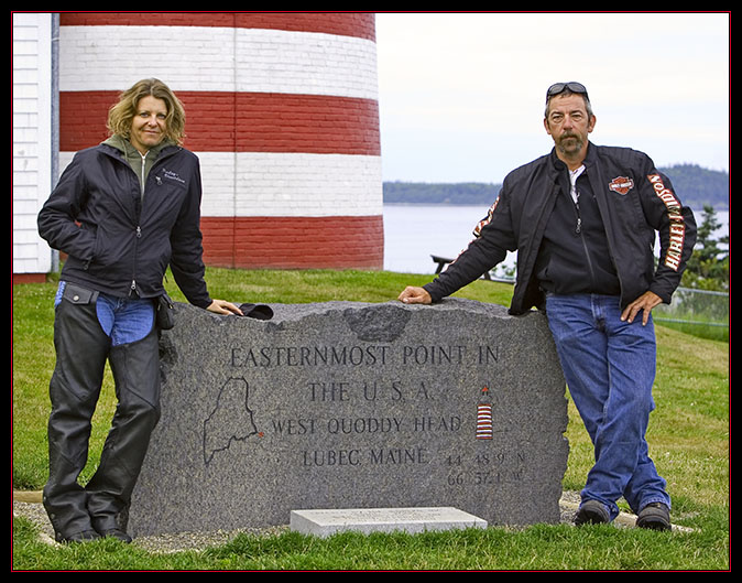 Kevin & Loretta at the Easternmost Point