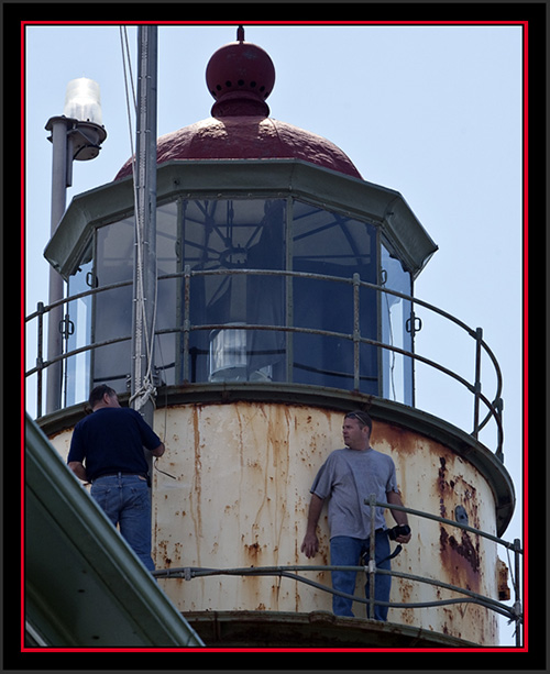 NOAA Crew on the Lighthouse - Matinicus Rock