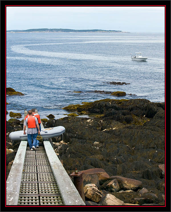 Launching the Inflatible - Matinicus Rock - Maine Coastal Islands National Wildlife Refuge