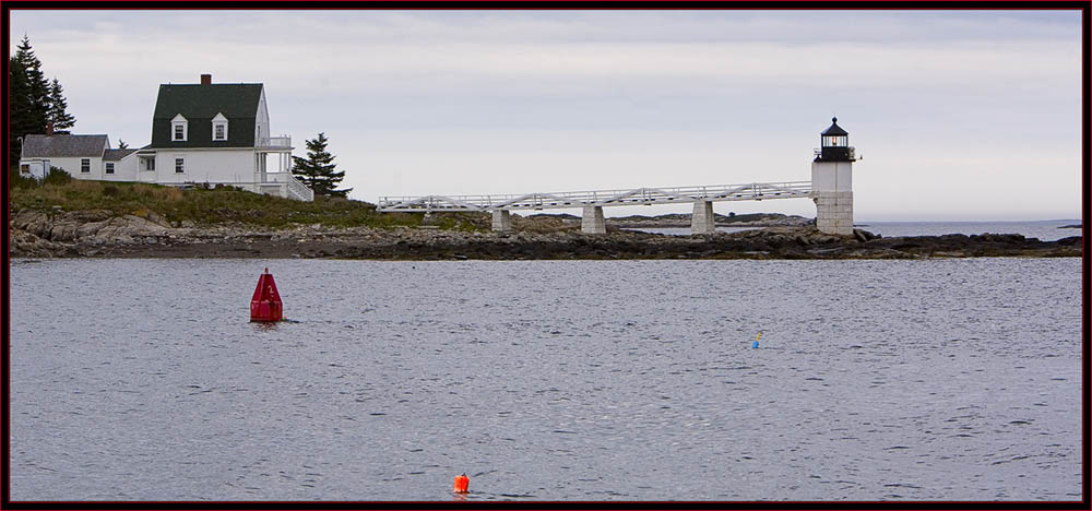 Marshall Point Lighthouse & buildings from seaward