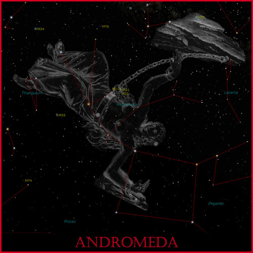 Classic View of Andromeda in the Heavens