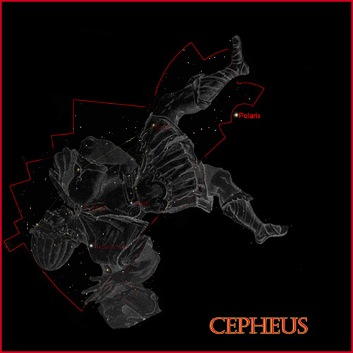 Classic View of Cepheus in the Heavens