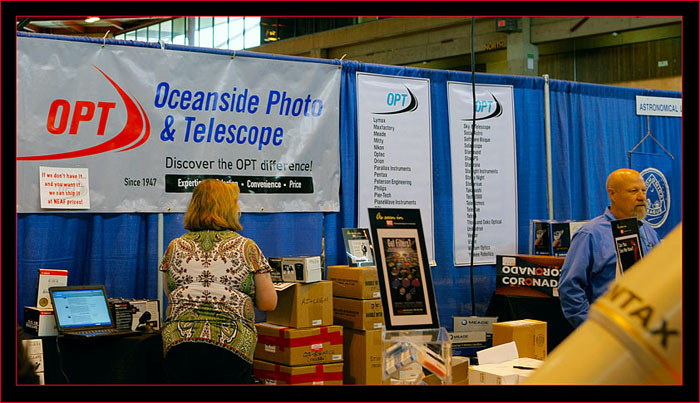 Oceanside Photo & Telescope (OPT) booth