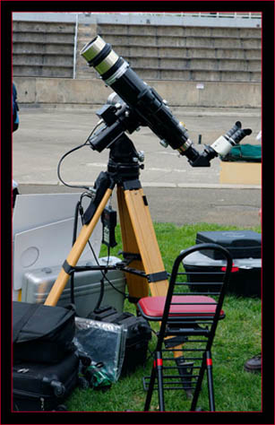 Solar scope with binoviewer