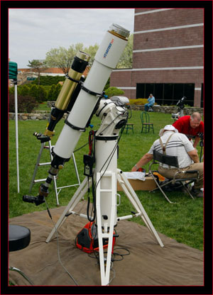 A-P system with piggybacked solar scope
