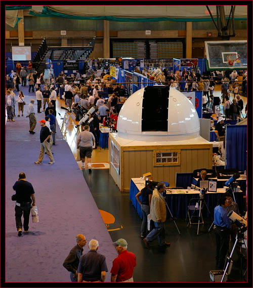 Exhibit floor from above