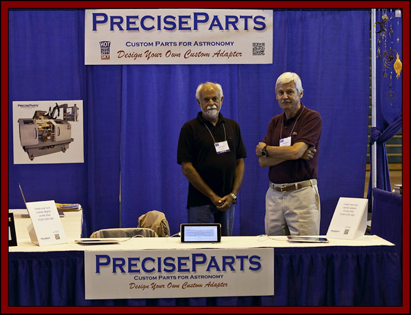 Andrés Valencia and Ashley Stevens in the PreciseParts Booth - NEAF 2011