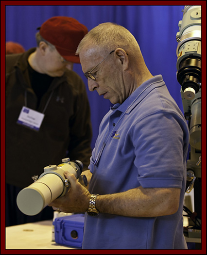 Ron Checking out a New Takahashi Design - NEAF 2011
