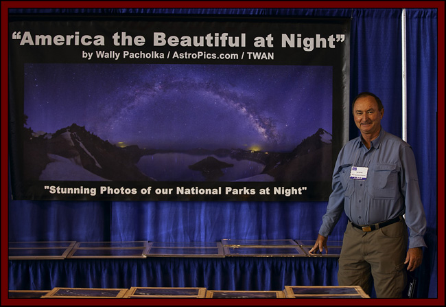 Wally Pacholka at his Display - NEAF 2011