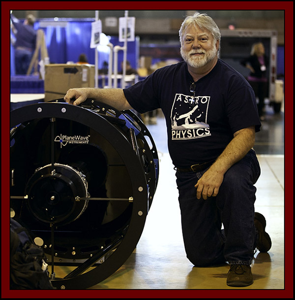 George Whitney of Astro-Physics with a 24 inch PlaneWave Instrument - NEAF 2011...