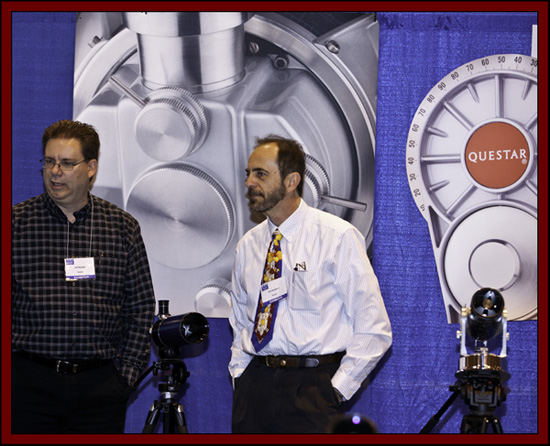 Jim Reichert and Don Bandurick in the Queststar Booth - NEAF 2011